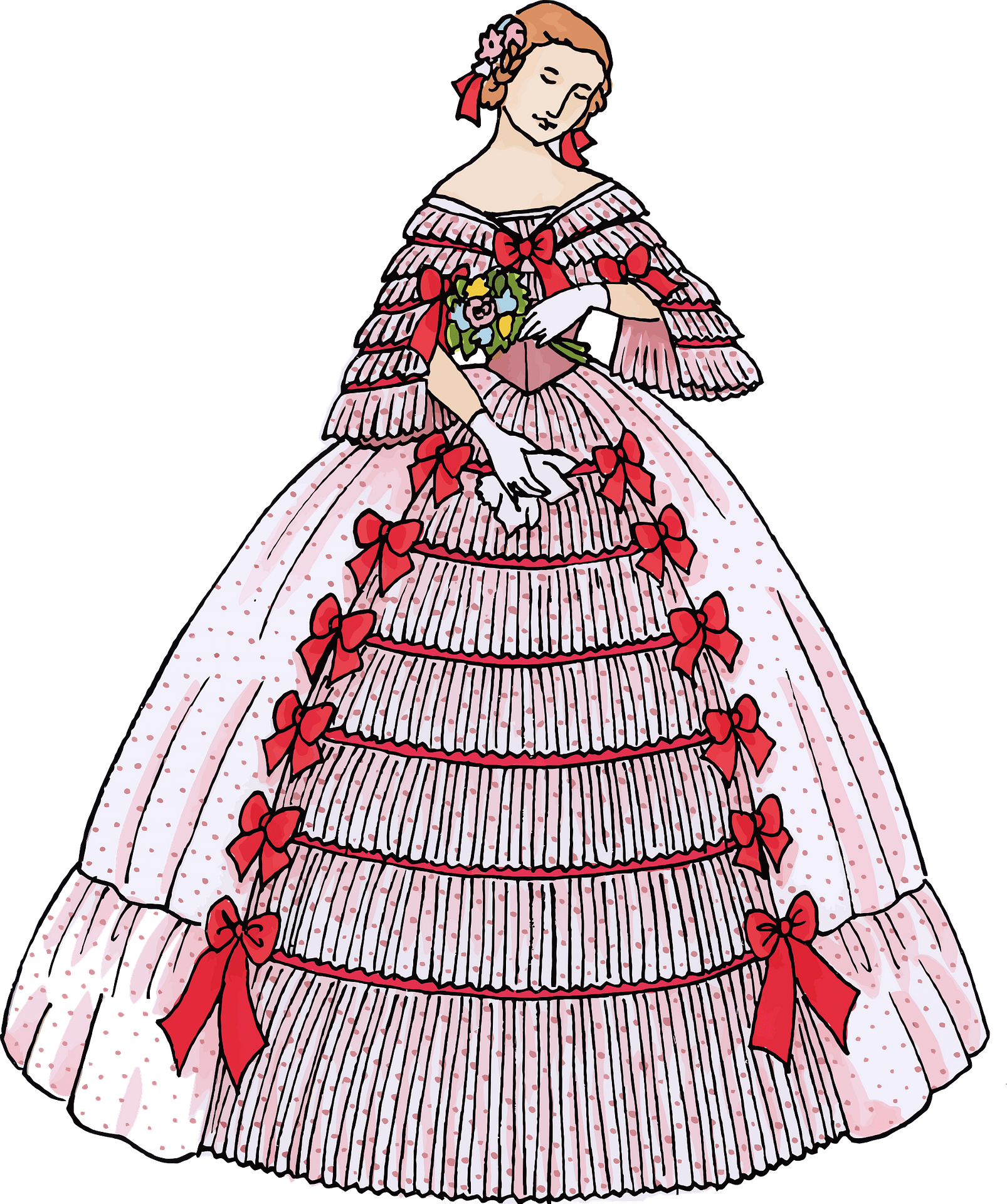 Vintage Woman S Ball Gown Clipart Free Download Transparent Png Creazilla