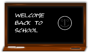 Black Board with Welcome Message clipart