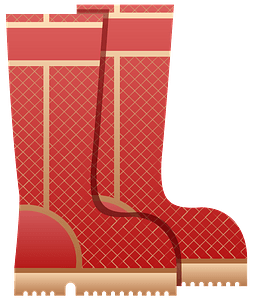 Red Wellies Boots clipart