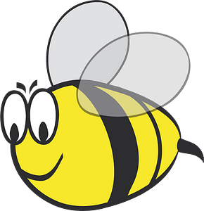 Smiling Bumblebee with Big Eyes clipart