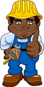 African Worker clipart