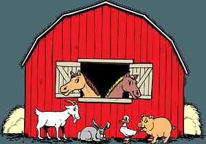 Barn Full of Animals clipart