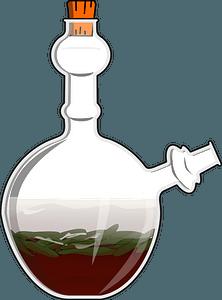 Cendol in a Glass Jug - Coconut, Rice Flour Jelly, Sugar clipart