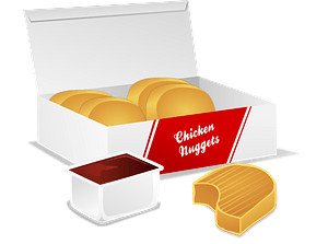 Chicken Nuggets and Barbecue Sauce clipart