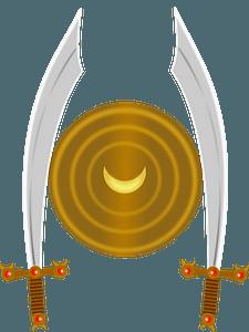 Scimitar Swords and Shield clipart
