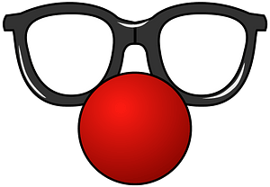 Funny Glasses and Red Nose clipart