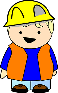Construction Blond Kid clipart