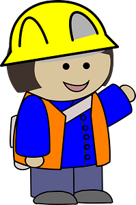 Construction Girl Pointing clipart
