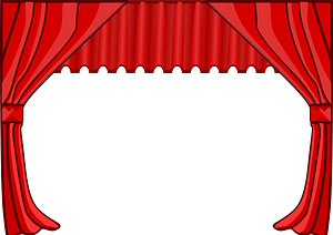 The Curtain Opens clipart