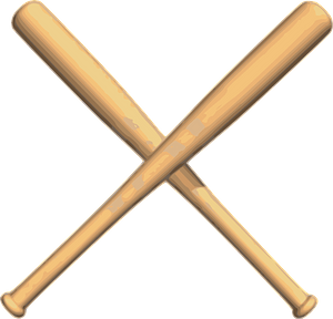 Crossed Bats Baseball clipart