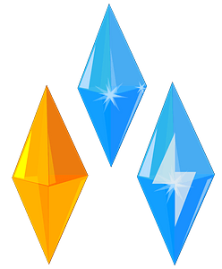 Blue and Gold Gem clipart