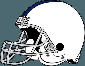 Superbowl Helmet - Black and White clipart