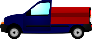 Small Truck with Pickup Bed Storage Containers clipart