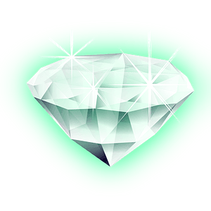 Diamond with a Green Glow clipart