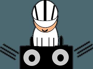 DJ - black and white clipart