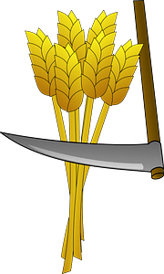 Wheat and Sickle clipart