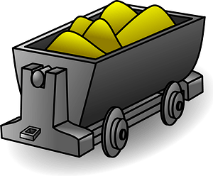 Gold Lorry clipart