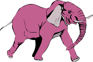 Pink Elephant clipart