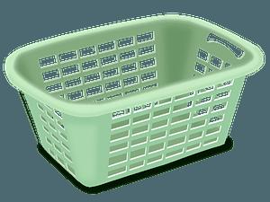 Empty Green Wash Basket clipart