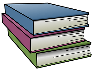 Stack of Hardcover Books clipart