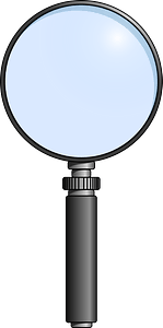 Magnifying Glass with a Silver Handle clipart