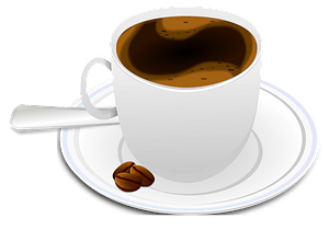 Hot Beverage in a Cup on a Saucer clipart