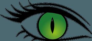 Green Cat Eye clipart