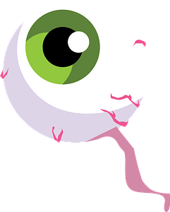 Eyeball with Green Iris clipart