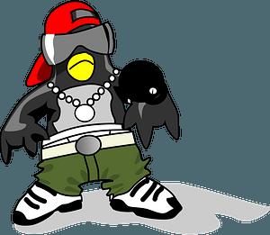 Hip-Hop Tux clipart