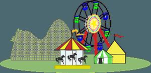 Ferris Wheel in Color -- Wide Version clipart
