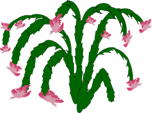 Pink May Flowers on the Stem clipart