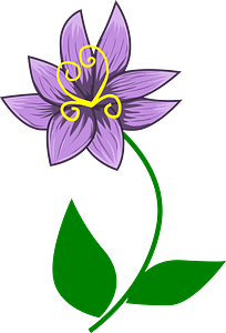 One Violet on the Stem clipart