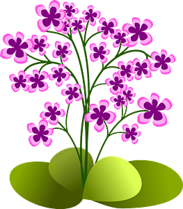 Pink Flowers in the Ground clipart