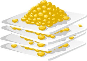 Corn off the Cob on Plates Stacked Up clipart