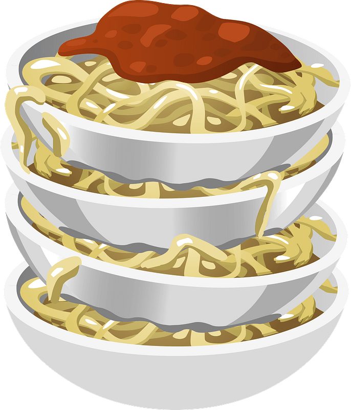 tasty pasta in bowls stacked up clipart free download transparent png creazilla https creazilla com pages 4 license information