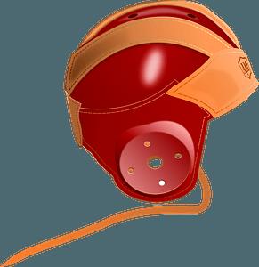 Vintage 1940'S Leather Football Helmet clipart