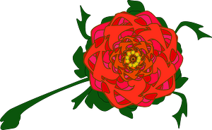 Red Fractal Flower clipart