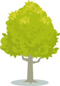 Tree with Yellow Leaves clipart