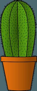 Cactus in a Pot clipart