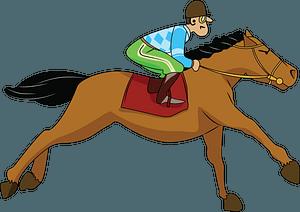 Jockey on Galloping Horse clipart