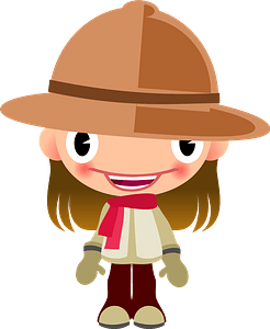 Girl Safari Talking clipart