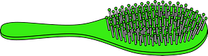 Green Hairbrush clipart