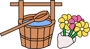 Grave Bucket and Flowers clipart
