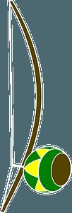Berimbau - Brazilian musical instrument clipart