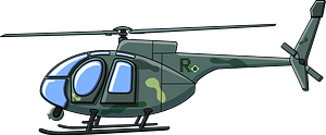Camouflage Helicopter clipart