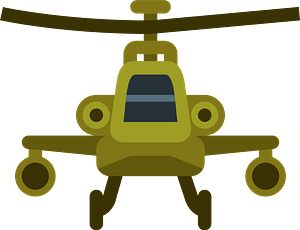 Yellow Helicopter clipart