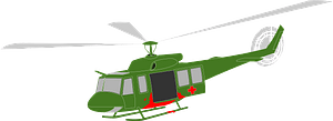 Green Helicopter clipart