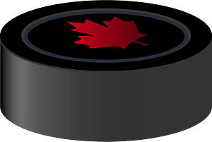 Hockey Puck Canada clipart