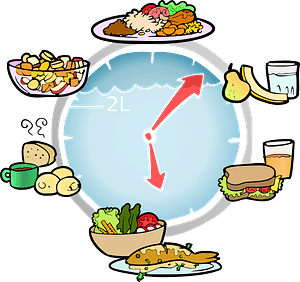 Meal Schedule with Pictures clipart