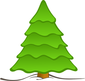 Evergreen Tree in the Snow clipart